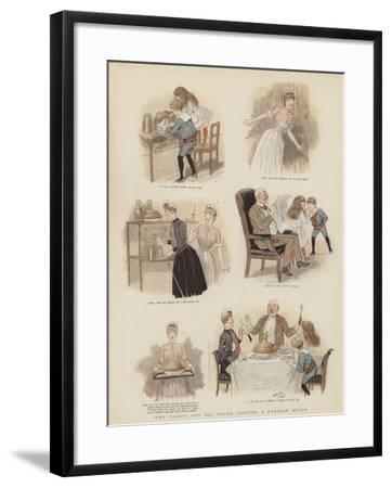 How Teddie and His Sister Adapted a Nursery Rhyme--Framed Giclee Print
