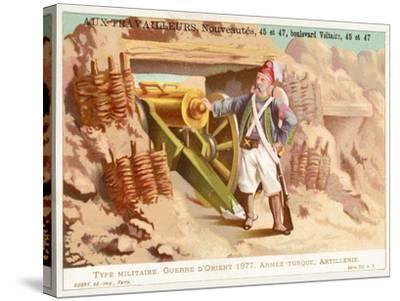 Turkish Artilleryman, Russo-Turkish War, 1877--Stretched Canvas Print