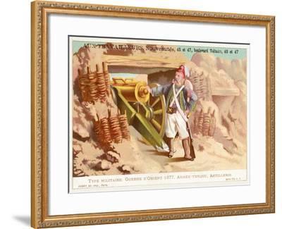 Turkish Artilleryman, Russo-Turkish War, 1877--Framed Giclee Print