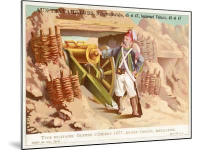 Turkish Artilleryman, Russo-Turkish War, 1877--Mounted Giclee Print