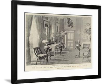 The Queen's Visit to the Riviera, the Excelsior Hotel Regina, Cimiez--Framed Giclee Print