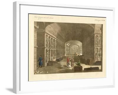 The Large Catacombs Near Palermo--Framed Giclee Print