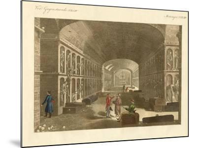 The Large Catacombs Near Palermo--Mounted Giclee Print