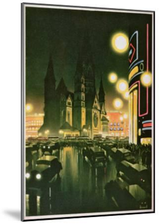 Postcard Depicting Berlin, C.1930-6--Mounted Giclee Print