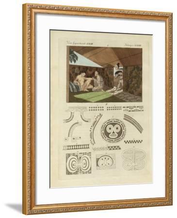 Kind of Tattooing in Nurahiwa--Framed Giclee Print