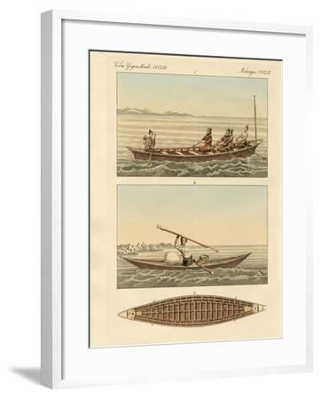 Boats of the Greenlanders--Framed Giclee Print