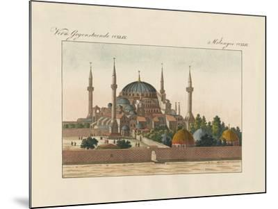 Saint-Sophia Cathedral in Constantinople--Mounted Giclee Print