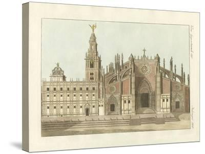 The Cathedral or Metropolitan Church of Seville--Stretched Canvas Print