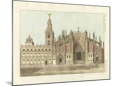 The Cathedral or Metropolitan Church of Seville--Mounted Giclee Print