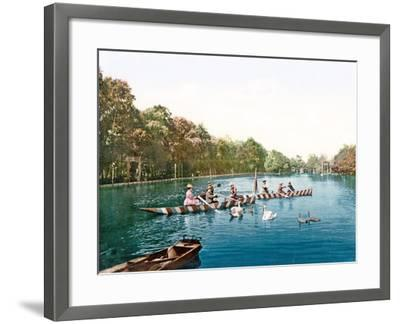 Lake at Franzenbad, Bohemia, Pub. C.1900--Framed Giclee Print