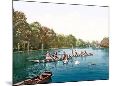 Lake at Franzenbad, Bohemia, Pub. C.1900--Mounted Giclee Print