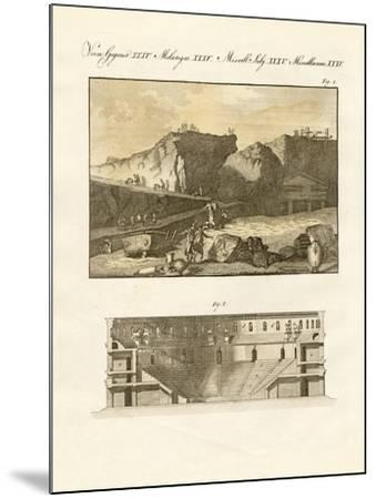 The Subterraneous Town of Herculaneum--Mounted Giclee Print