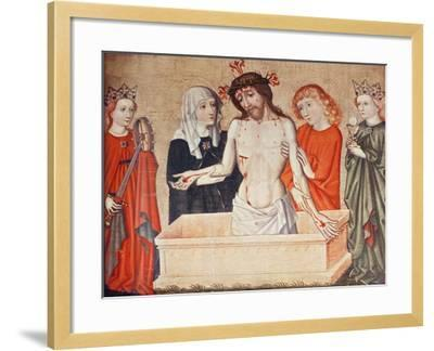 Christ at the Sepulchre, Supported by His Mother and Saint John--Framed Giclee Print