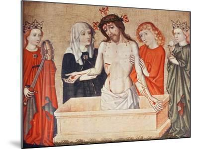 Christ at the Sepulchre, Supported by His Mother and Saint John--Mounted Giclee Print