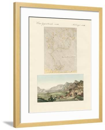 The Labyrinth of Crete--Framed Giclee Print