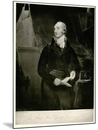 George Canning, 1884-90--Mounted Giclee Print