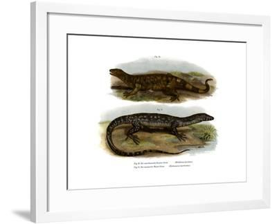 Beaded Lizard--Framed Giclee Print