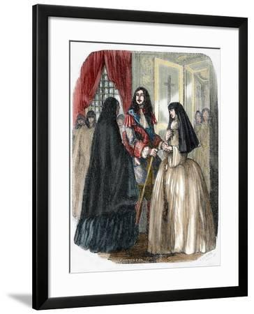 Louis XIV and His Mistress Louise De La Valliere (1644-1710)--Framed Giclee Print