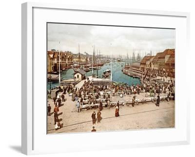 Fisketorget, Bergen, Pub. C.1900--Framed Giclee Print