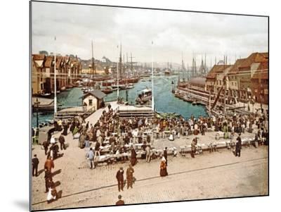 Fisketorget, Bergen, Pub. C.1900--Mounted Giclee Print