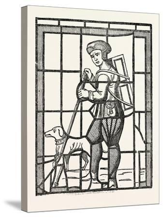 The Pedlar and His Dog, from a Window in Lambeth Church, London, UK--Stretched Canvas Print