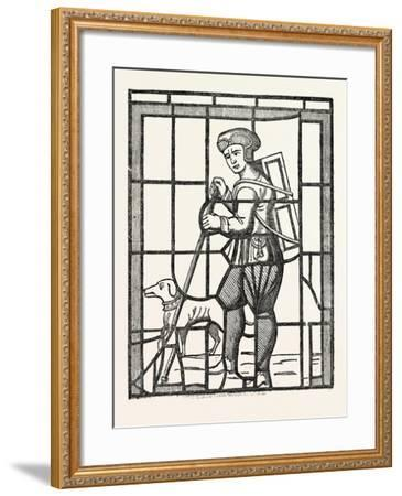 The Pedlar and His Dog, from a Window in Lambeth Church, London, UK--Framed Giclee Print