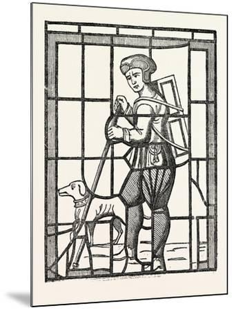 The Pedlar and His Dog, from a Window in Lambeth Church, London, UK--Mounted Giclee Print