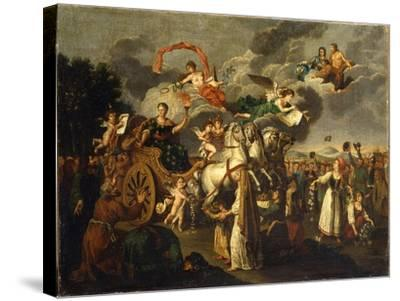 Catherine II Journeying across Russia, 1787--Stretched Canvas Print