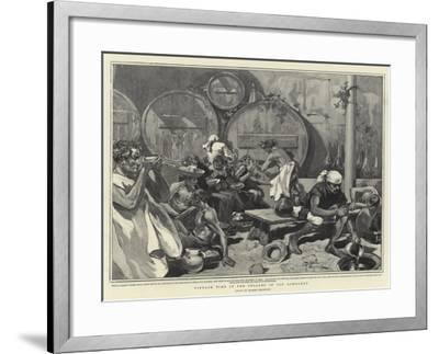 Vintage Time in the Cellars of Old Lombardy--Framed Giclee Print
