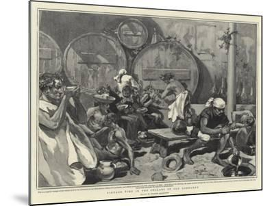 Vintage Time in the Cellars of Old Lombardy--Mounted Giclee Print