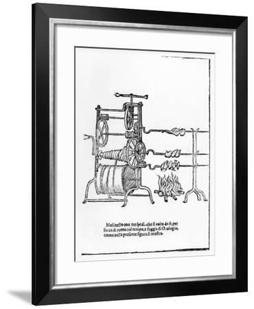 The Procedure for Spit Roasting--Framed Giclee Print