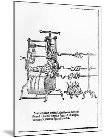 The Procedure for Spit Roasting--Mounted Giclee Print
