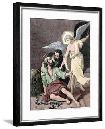Saint Marcelino and Saint Peter, Martyrs, Rome, 304 Ad--Framed Giclee Print