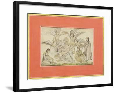 Angels Attend Mary and Jesus, C.1665--Framed Giclee Print
