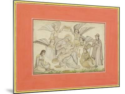 Angels Attend Mary and Jesus, C.1665--Mounted Giclee Print