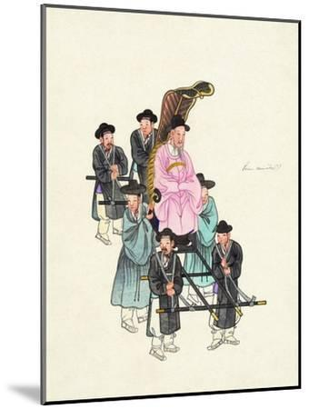 Example of a Roofless Palanquin, Published C.1890--Mounted Giclee Print