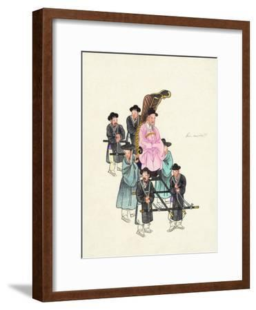 Example of a Roofless Palanquin, Published C.1890--Framed Giclee Print