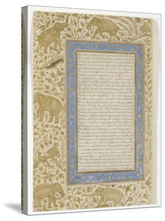 Dictionary Page, C.1607--Stretched Canvas Print