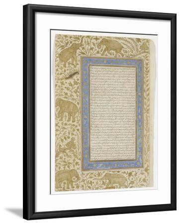 Dictionary Page, C.1607--Framed Giclee Print
