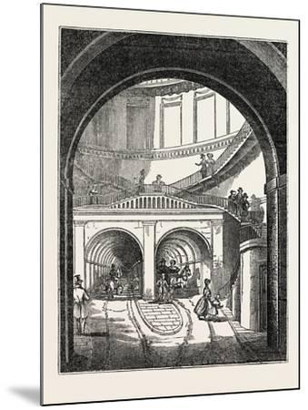 The Thames Tunnel: the Rotherhithe Shaft, or Descent--Mounted Giclee Print
