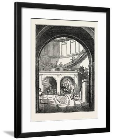 The Thames Tunnel: the Rotherhithe Shaft, or Descent--Framed Giclee Print