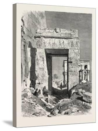 From the Temple of Isis at Philae. Egypt, 1879--Stretched Canvas Print