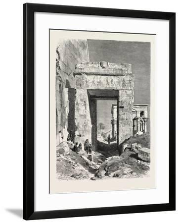 From the Temple of Isis at Philae. Egypt, 1879--Framed Giclee Print