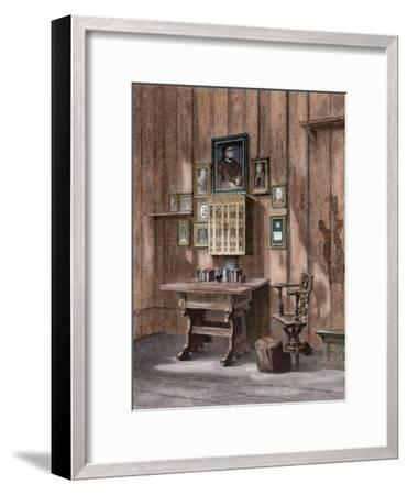 Room of Martin Luther (1483-1546) at Wartburg--Framed Giclee Print
