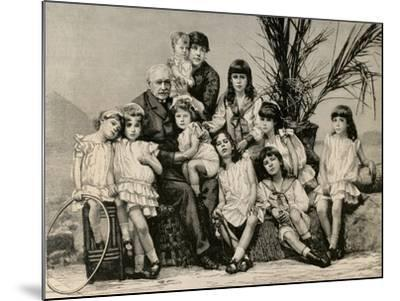Ferdinand De Lesseps (1805-1894) with His Family, 1886--Mounted Giclee Print