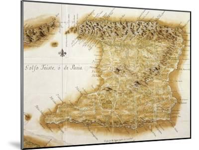 Map of Island of Trinidad, 1777, Trinidad and Tobago, 18th Century--Mounted Giclee Print
