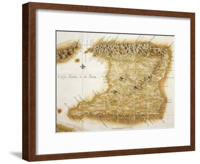 Map of Island of Trinidad, 1777, Trinidad and Tobago, 18th Century--Framed Giclee Print