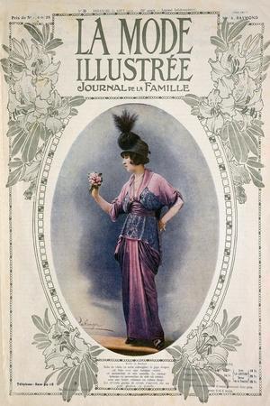 La Mode Illustree Cover, August 1934, Italian Fashion Magazine--Stretched Canvas Print