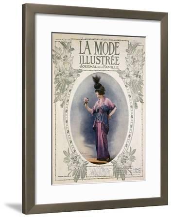 La Mode Illustree Cover, August 1934, Italian Fashion Magazine--Framed Giclee Print
