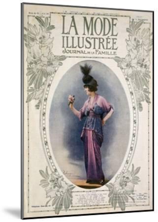 La Mode Illustree Cover, August 1934, Italian Fashion Magazine--Mounted Giclee Print